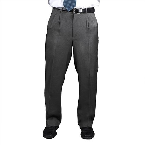 Men's Pleated Front Ultralux Comfort Stretch Pants Navy