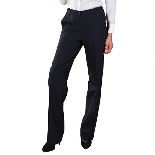 Ladies Tailored Front UltraLux Pants Navy New Fit