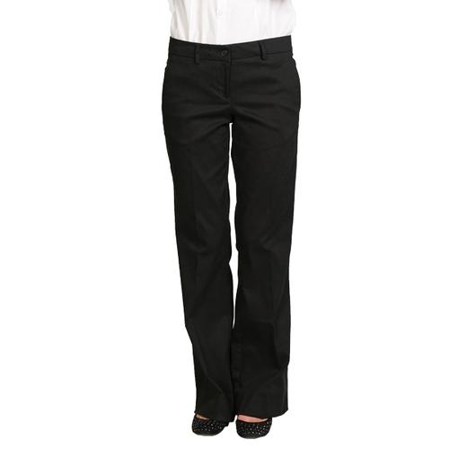 Junior Low Rise Soft Poly Cotton Pants Black