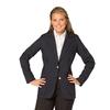 Women's Jet  Polyester Blazer- Unlined
