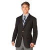 Men's Jet  Polyester Blazer- Unlined
