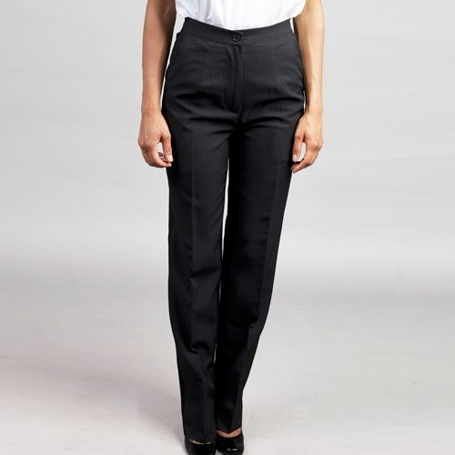 Ladies Tailored Front EasyWear Pants Gray