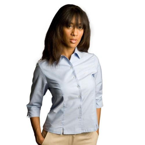 Ladies Oxford 3/4 Sleeve Modesty Overblouse