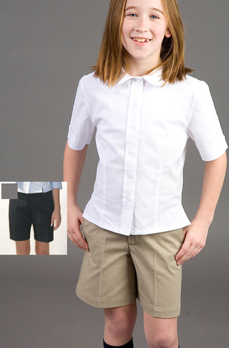 Junior Low Rise Perfect Fit Poly/ Cotton Shorts