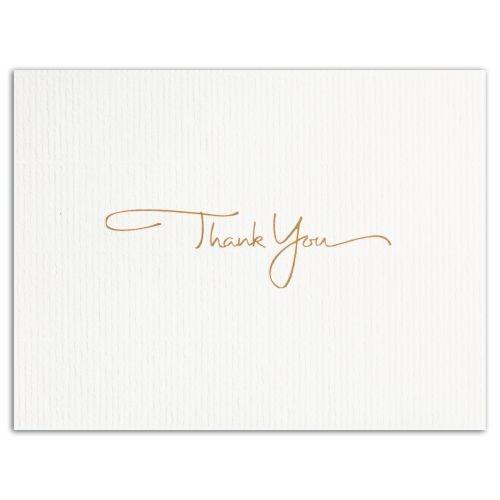 GOLDEN THANK YOU (Gold Lined Ecru Envelope)