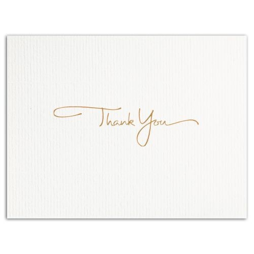 GOLDEN THANK YOU (Gold Lined Ecru Fastick® Envelope)