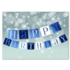 A BANNER BIRTHDAY (Silver Lined White Envelope)