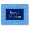 SIMPLE BIRTHDAY - PERIWINKLE (White Unlined Envelope)