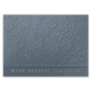 DEEPEST SYMPATHIES (Silver Lined White Fastick® Envelope)