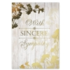 SYMPATHY SINCERITY (Gold Lined White Envelope)