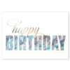 BIRTHDAY MARBLE (Gold Lined White Envelope)