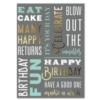 BIRTHDAY THOUGHTS (Gold Lined White Fastick® Envelope)