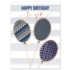 PATTERNED BIRTHDAY BALLOONS (White Unlined Envelope)