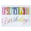 MULTICOLORED HAPPY BIRTHDAY (Gold Lined White Envelope)