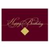 FILIGREE BIRTHDAY (Gold Lined White Envelope)