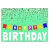 BANNER BIRTHDAY (Silver Lined White Fastick® Envelope)