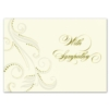 FLOURISH IN PEARL (Gold Lined Ecru Envelope)