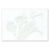 WITH SYMPATHY (Silver Lined White Fastick® Envelope)