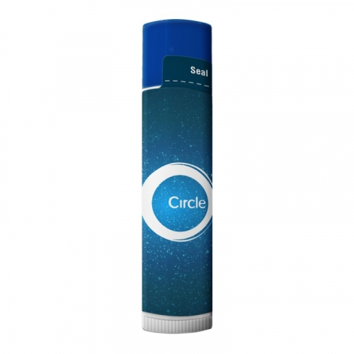 SPF 15 Lip Balm in White Tube with Colored Cap