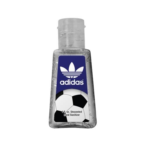 1 oz. Clear Sanitizer in Trapezoid Bottle