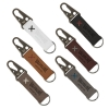 Busker Leather Keychain with Antique Nickel Carabiner