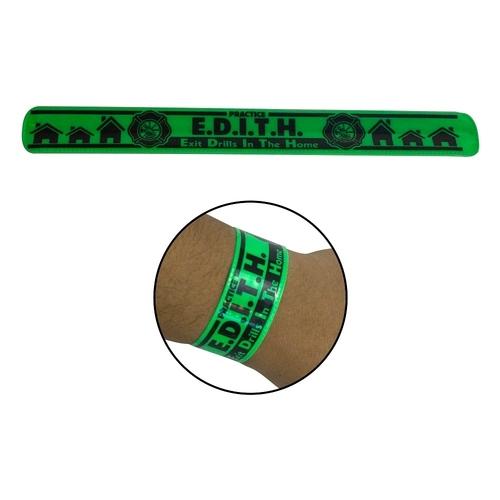 Reflective (Small) Vinyl Slap Bracelet  + 1-2 color logo