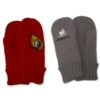 Thick Knitted Gloves Embroidered