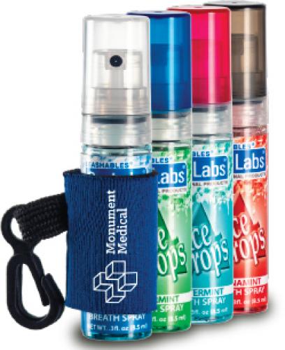 Breath Spray with Ice Drops® Label & Custom Leash Wintermint
