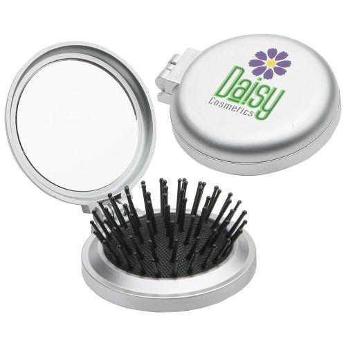 Travel Disk Brush & Mirror