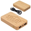 Bamboo 5000mAh Dual Port Power Bank with Wireless Charger