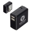 Dual Port USB Adapter with Foldable Prongs