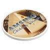 Cobblestone Absorbent Coaster with Cork Base
