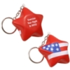 Patriotic Star Stress Reliever Key Chain
