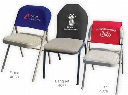 Flat Twill Reusable Fabric Chair Back Advertising Cover
