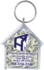 House Shaped Acrylic Key Tag (2.14