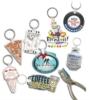 Custom shaped full color punch key tag w/ key ring