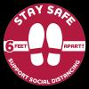 Stay Safe Floor Decals (12