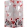 Table Luminary Card Stock 12pt 4 Sided Heart 4.25