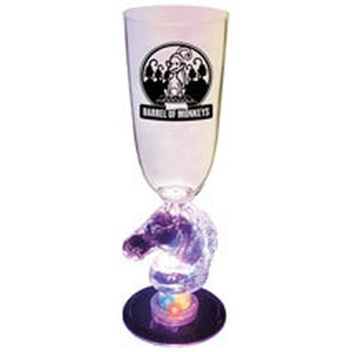 7 Oz. Plastic Lighted Novelty Stem Champagne