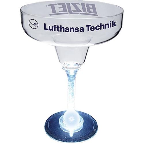 12 Oz. Margarita Glass w/ Light Up Contrast Standard Stem