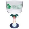 18 Oz. Plastic Lighted Novelty Stem Margarita Glass