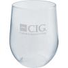 12 oz. Clear PVC Stemless Wine Glass