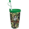 16 Oz. Double Wall Insulated Thermal Travel Tumbler - White Printed Insert