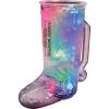 20 Oz. Lighted Plastic Cowboy Boot Mug w/3 LEDs