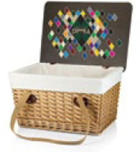 Canasta Grande Willow Basket w/Removable Lid and Double Handles