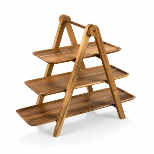 Acacia Serving Ladder