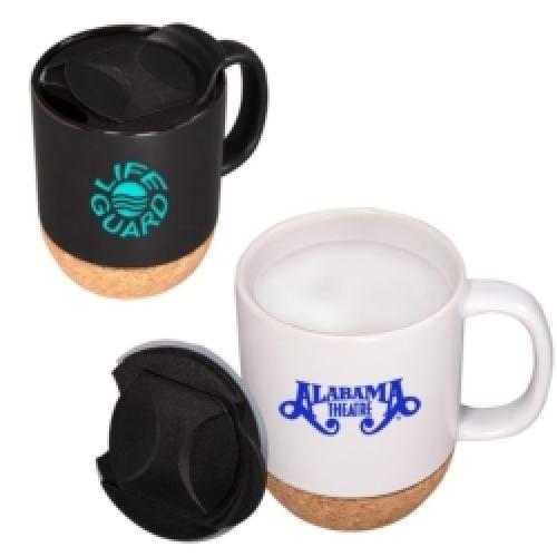 14 oz. Ceramic Mug with Cork Base