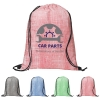 Denim Pattern Non-Woven Drawstring Backpack