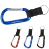 Carabiner with Strap and Split Ring