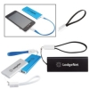 Slim Aluminum Power Bank Charger with Micro USB Cable Wrist Strap - UL Certified